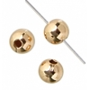Gold-filled 14kt Bead with seam Round 2mm
